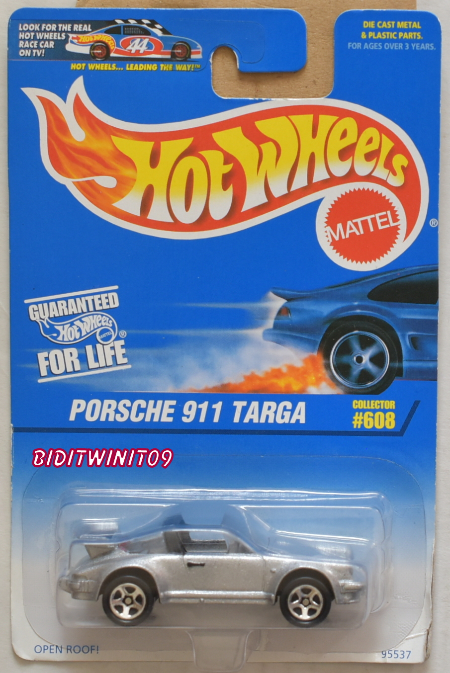 HOT WHEELS 1997 PORSCHE 911 TARGA COLLECTOR #608 SILVER