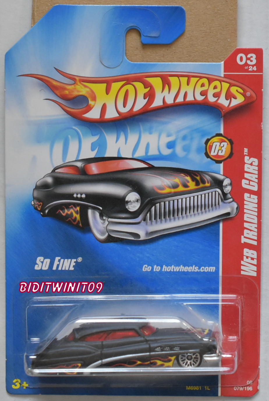 HOT WHEELS 2008 WEB TRADING CARS SO FINE BLACK