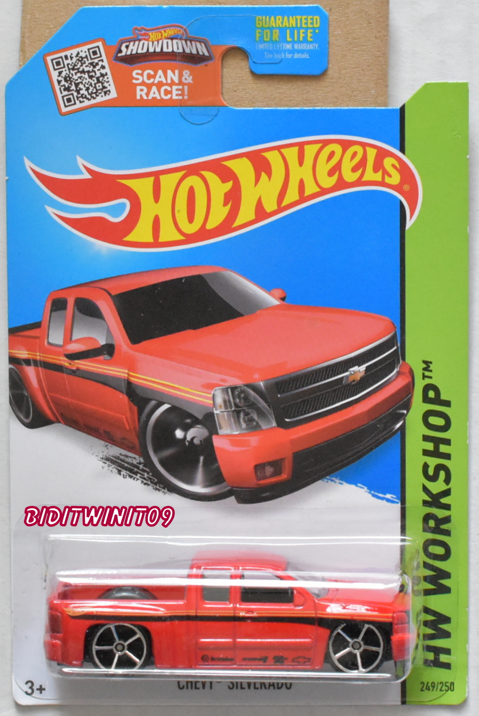 HOT WHEELS 2015 THEN AND NOW - HW WORKSHOP CHEVY SILVERADO RED E+