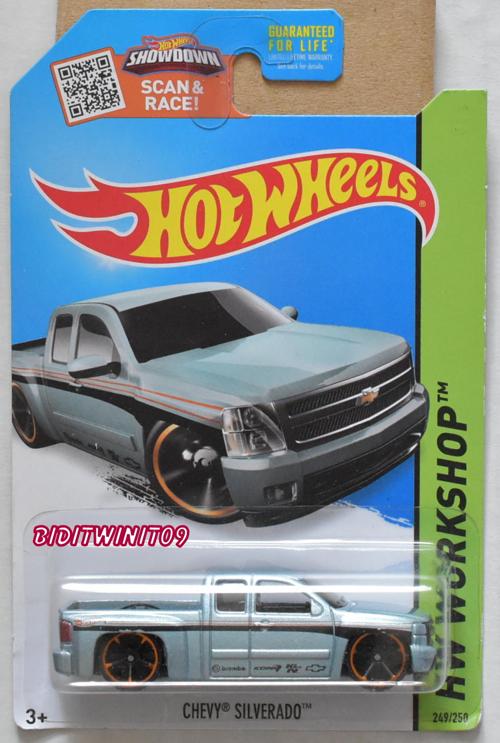 HOT WHEELS 2015 THEN AND NOW - HW WORKSHOP CHEVY SILVERADO E+