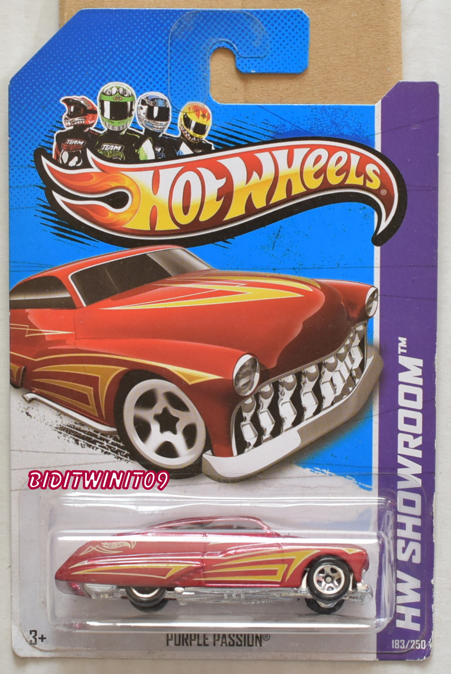 HOT WHEELS 2013 HW SHOWROOM - AMERICAN TURBO PURPLE PASSION RED