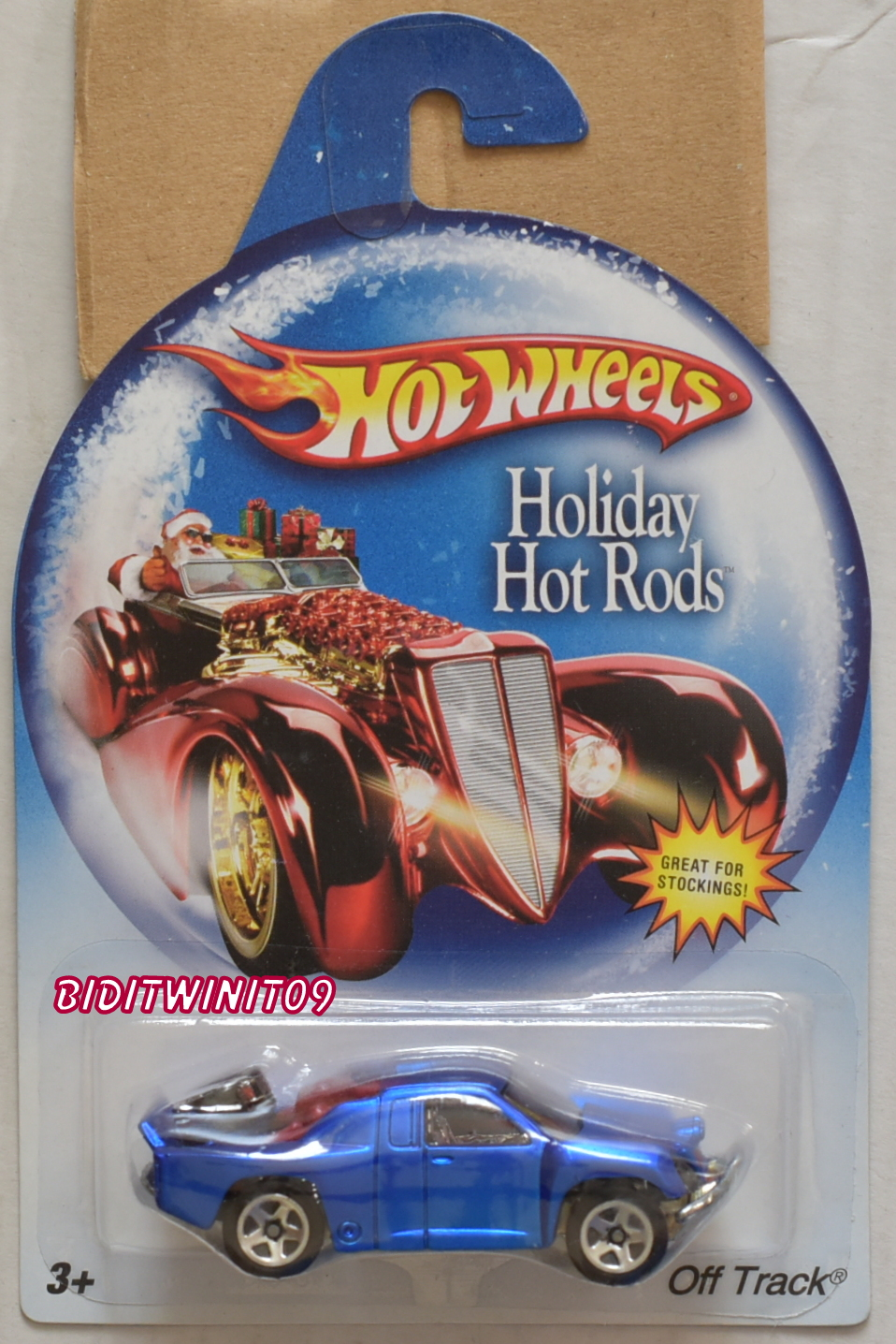 HOT WHEELS HOLIDAY HOT RODS OFF TRACK BLUE