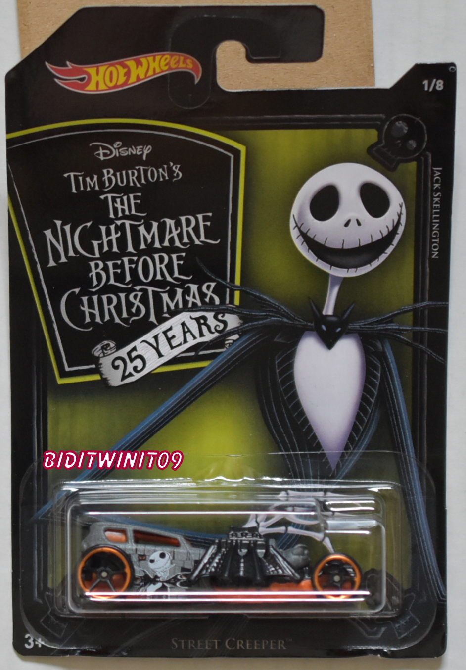 HOT WHEELS 2018 NIGHTMARE BEFORE CHRISTMAS STREET CREEPER