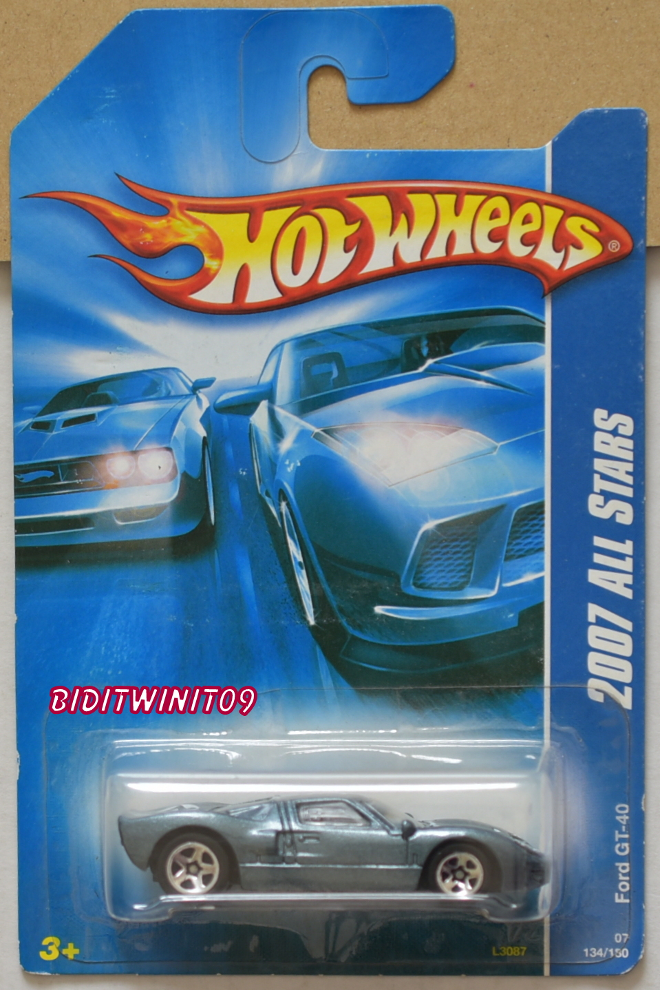 HOT WHEELS 2007 ALL STARS FORD GT-40 E+