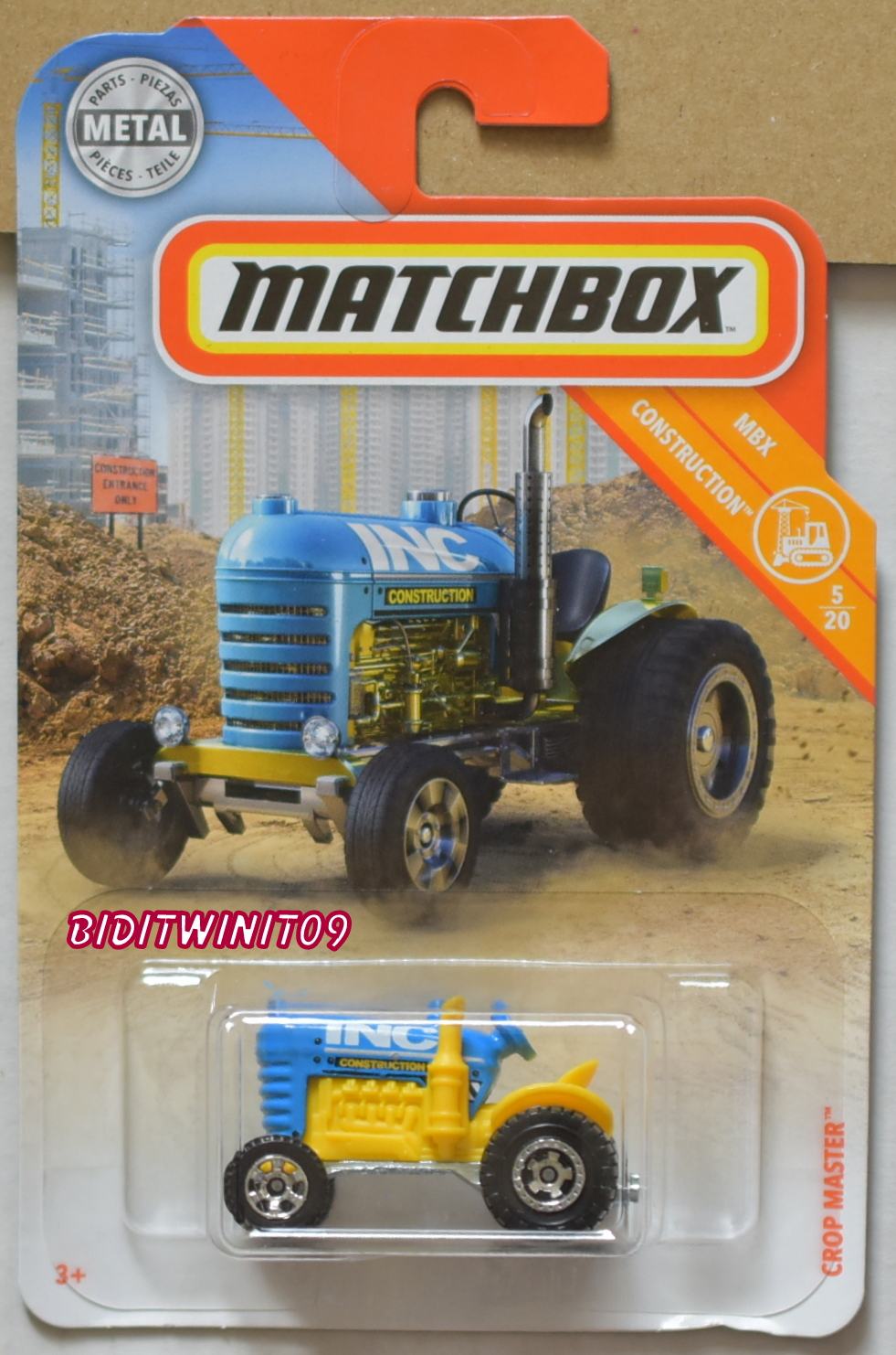 MATCHBOX 2018 MBX CONSTRUCTION CROP MASTER