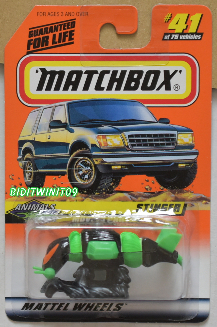 MATCHBOX 1998 #41 OF 75 STINGER ANIMALS GREEN