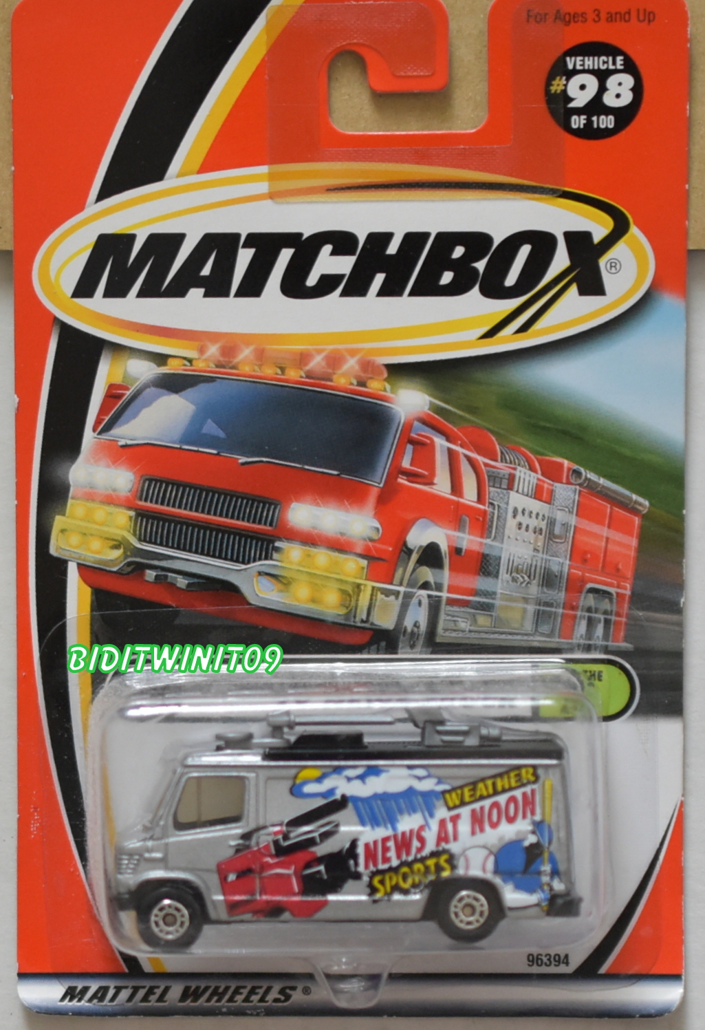 MATCHBOX 2000 TV NEWS TRUCK #98/100 E+