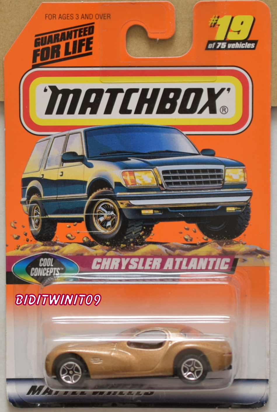 MATCHBOX 1998 CHRYSLER ATLANTIC COOL CONCEPTS E+