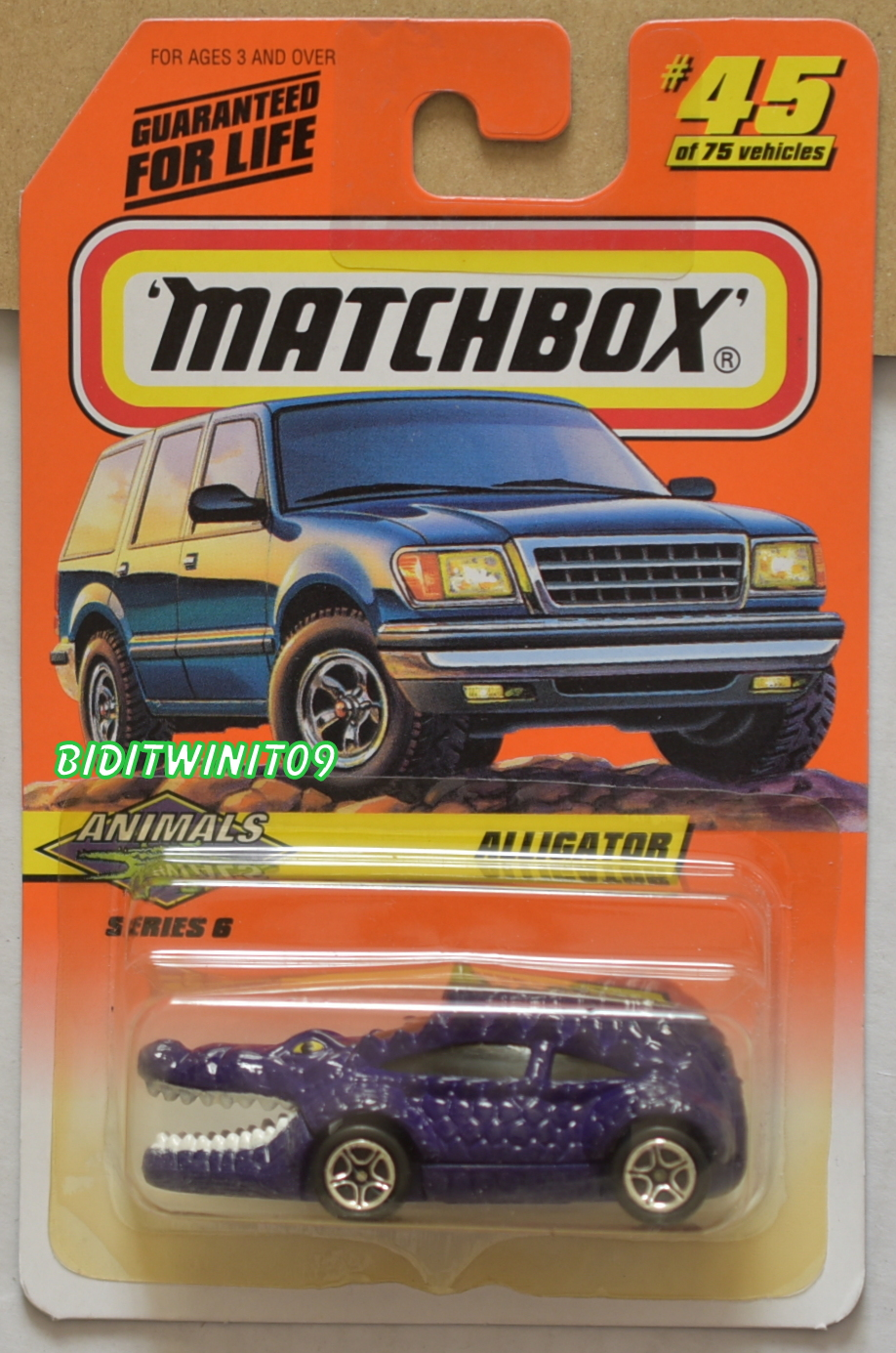 MATCHBOX 1998 ALLIGATOR ANIMALS #45/75 PURPLE E+