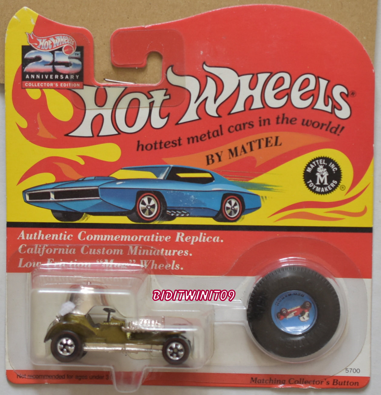 HOT WHEELS 25th ANNIVERSARY RED BARON OLIVE