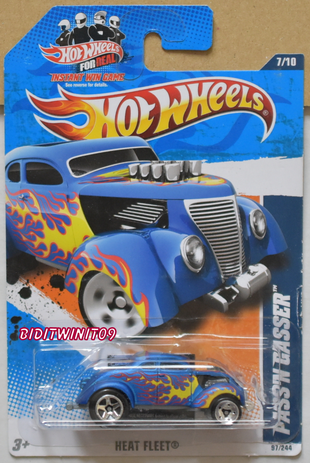 HOT WHEELS 2011 PASS'N GASSER HEAT FLEET #7/10 BLUE