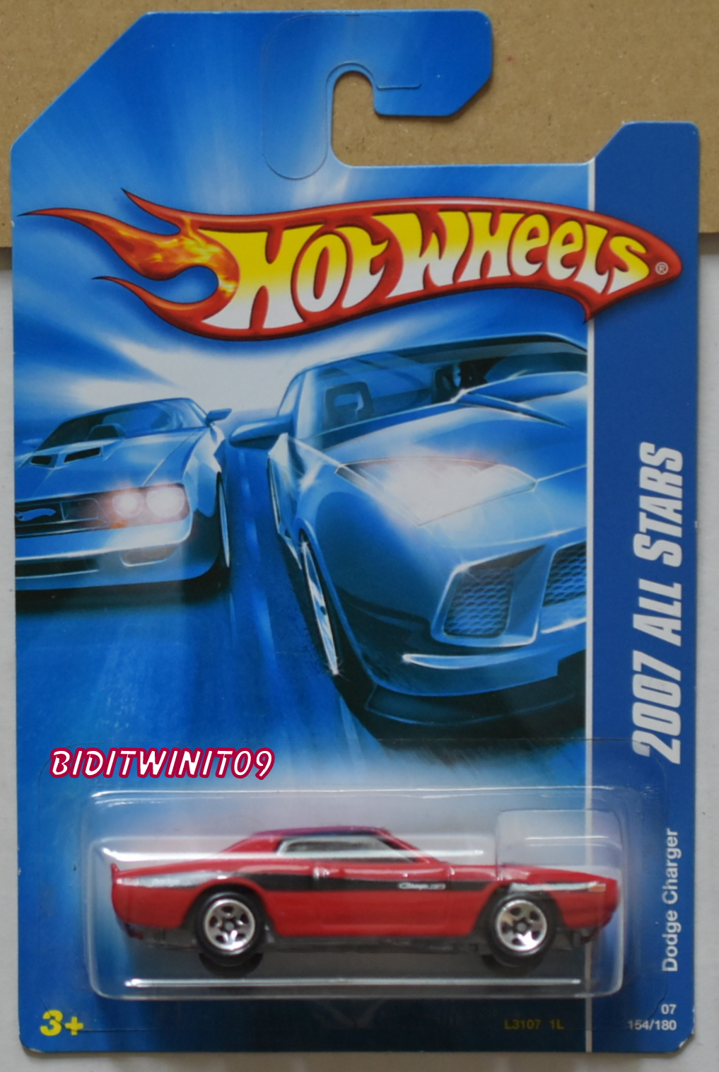 HOT WHEELS 2007 ALL STARS DODGE CHARGER RED