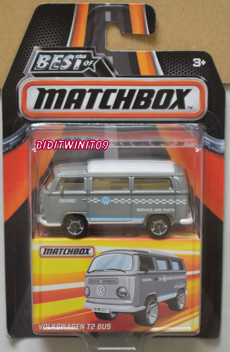 MATCHBOX 2016 BEST OF MATCHBOX VOLKSWAGEN T2 BUS E+