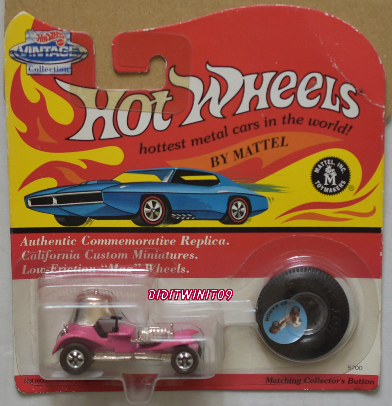 HOT WHEELS VINTAGE COLLECTION RED BARON PINK