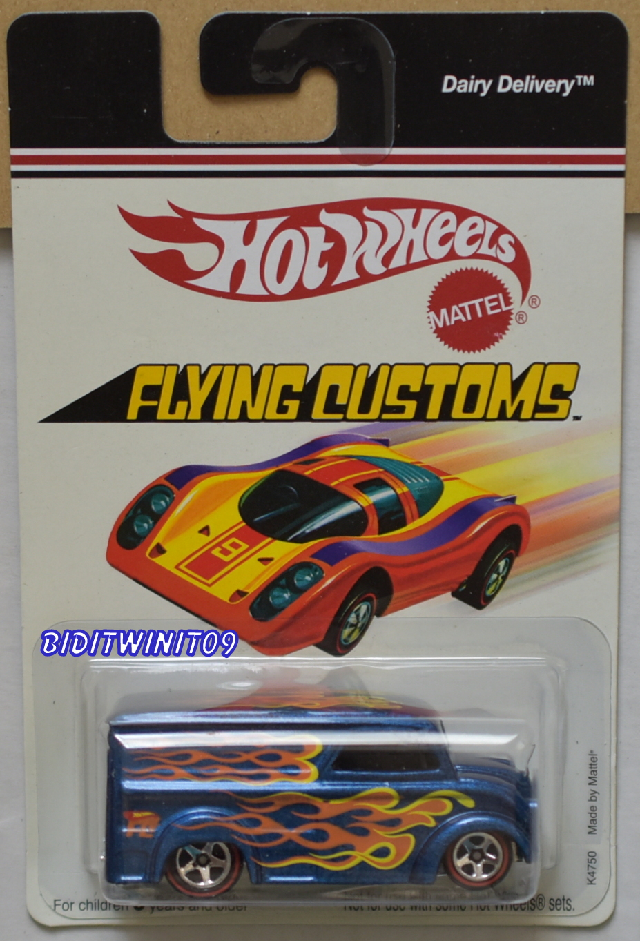 HOT WHEELS FLYING CUSTOMS DAIRY DELIVERY K4750 BLUE
