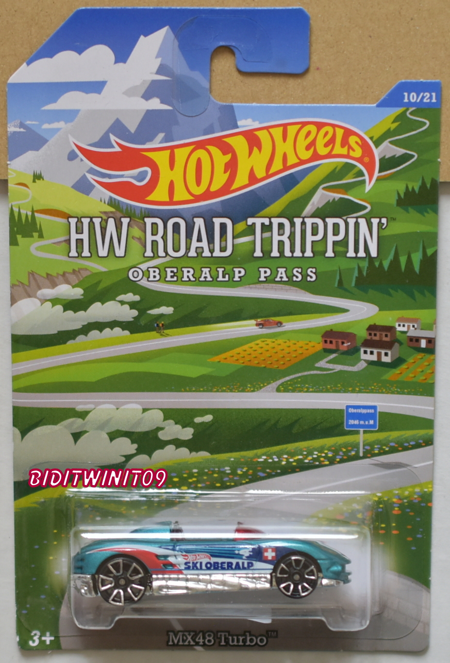 HOT WHEELS HW ROAD TRIPPIN OBERALP PASS MX48 TURBO #10/21 E+