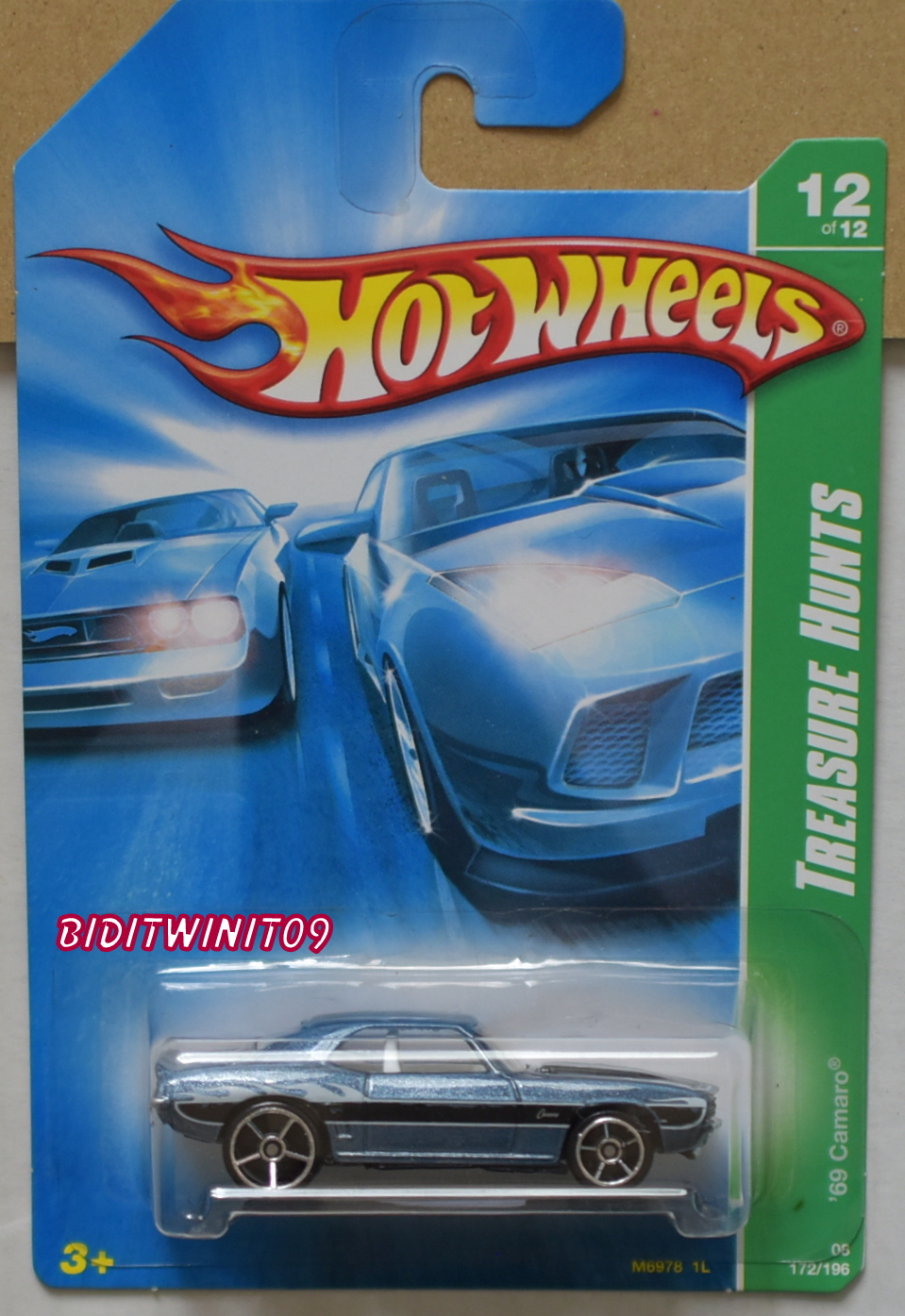 HOT WHEELS 2008 TREASURE HUNTS '69 CAMARO #12/12