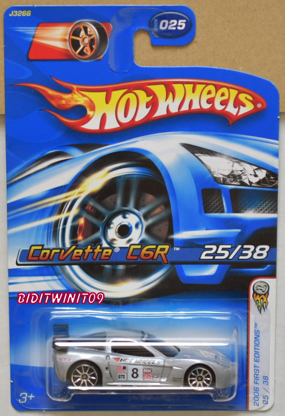 HOT WHEELS 2006 FIRST EDITIONS CORVETTE C6R W/ 10 SP WHEELS