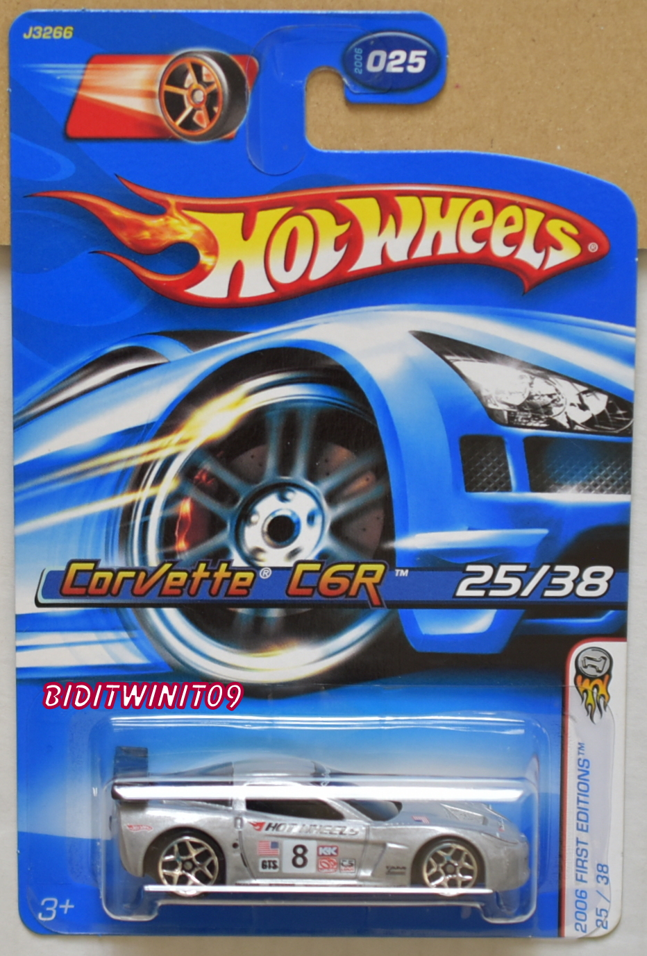 HOT WHEELS 2006 FIRST EDITIONS CORVETTE C6R SILVER E+