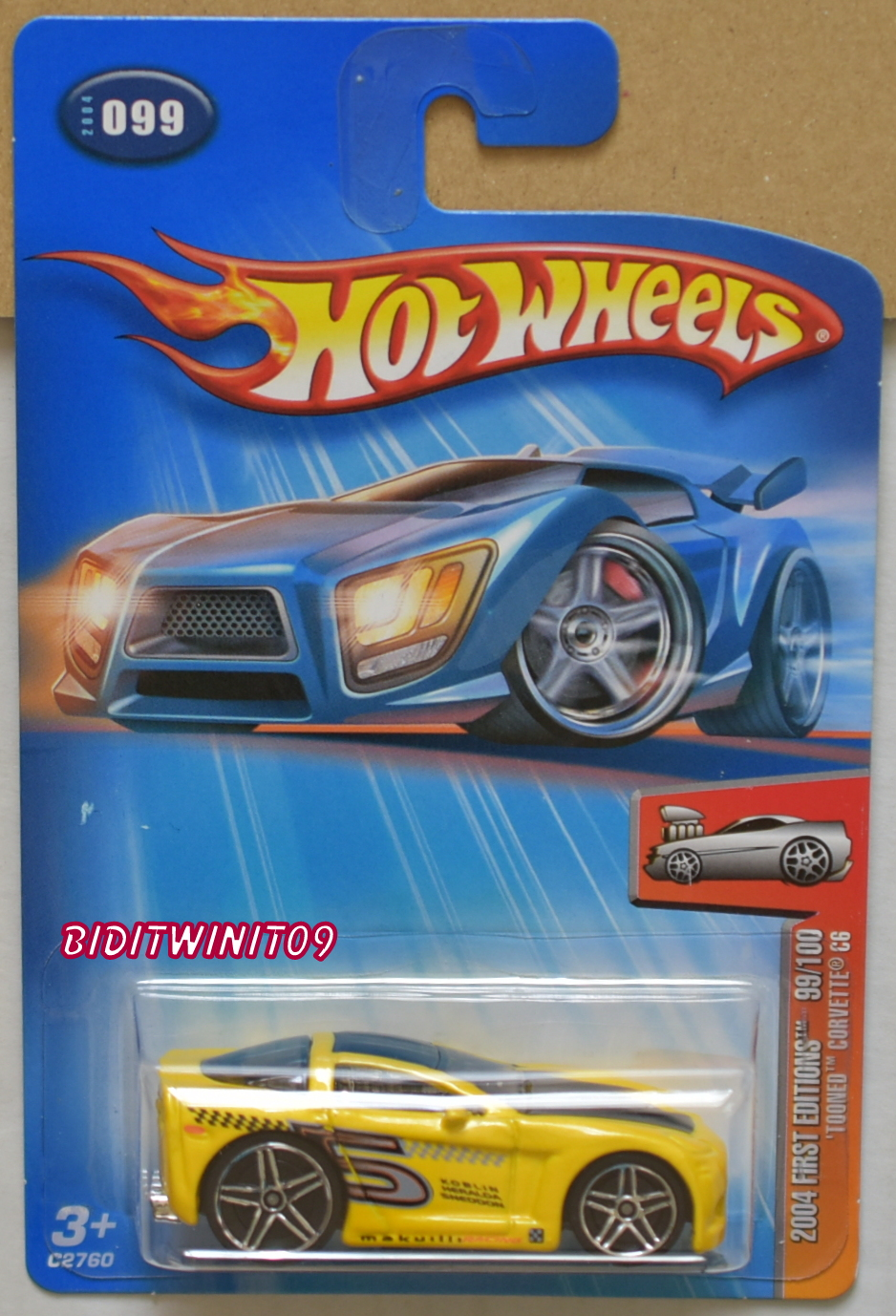 HOT WHEELS 2004 FIRST EDITIONS TOONED CORVETTE C6 #099