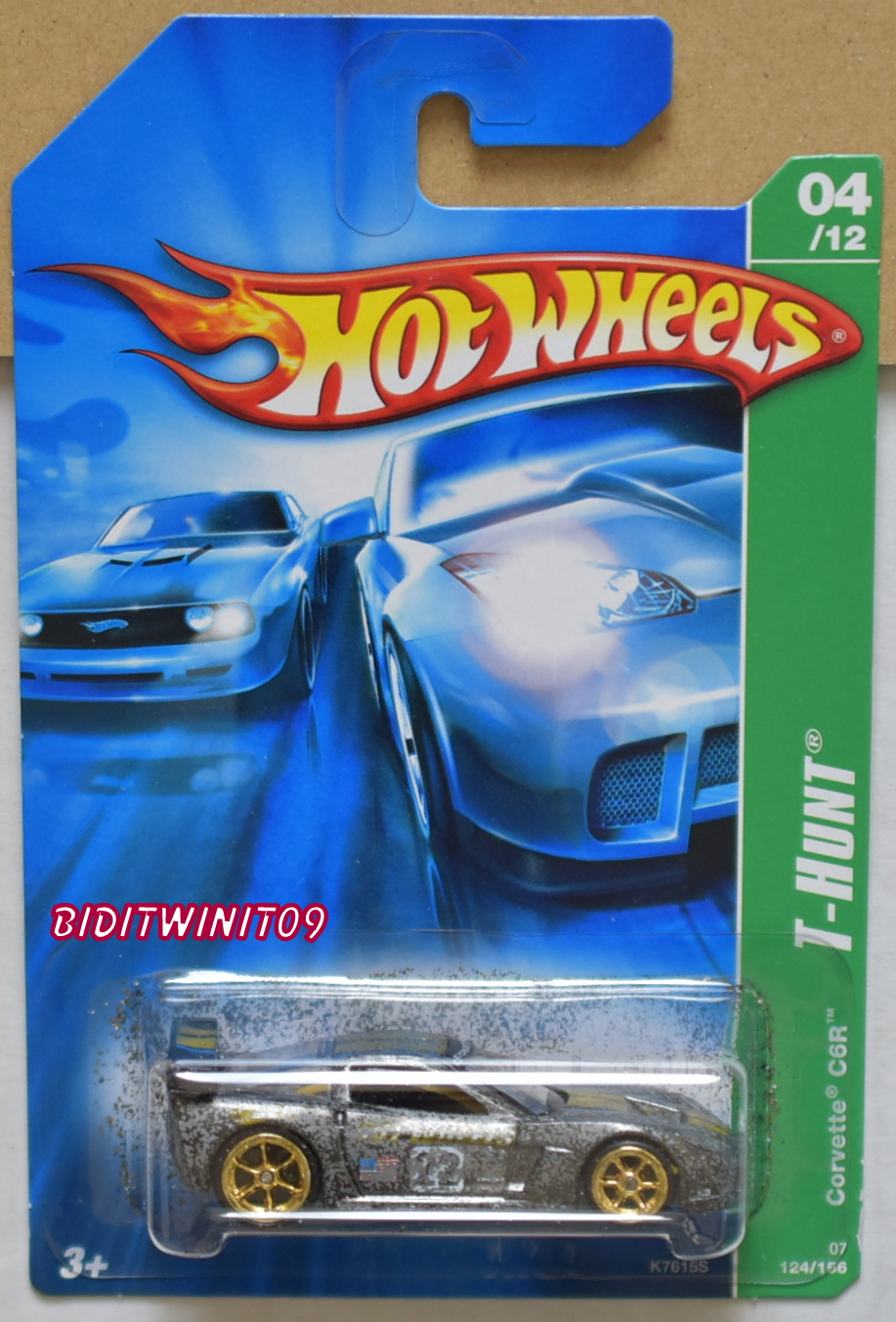 HOT WHEELS 2007 SUPER TREASURE HUNTS CORVETTE C6R #04/12 E+