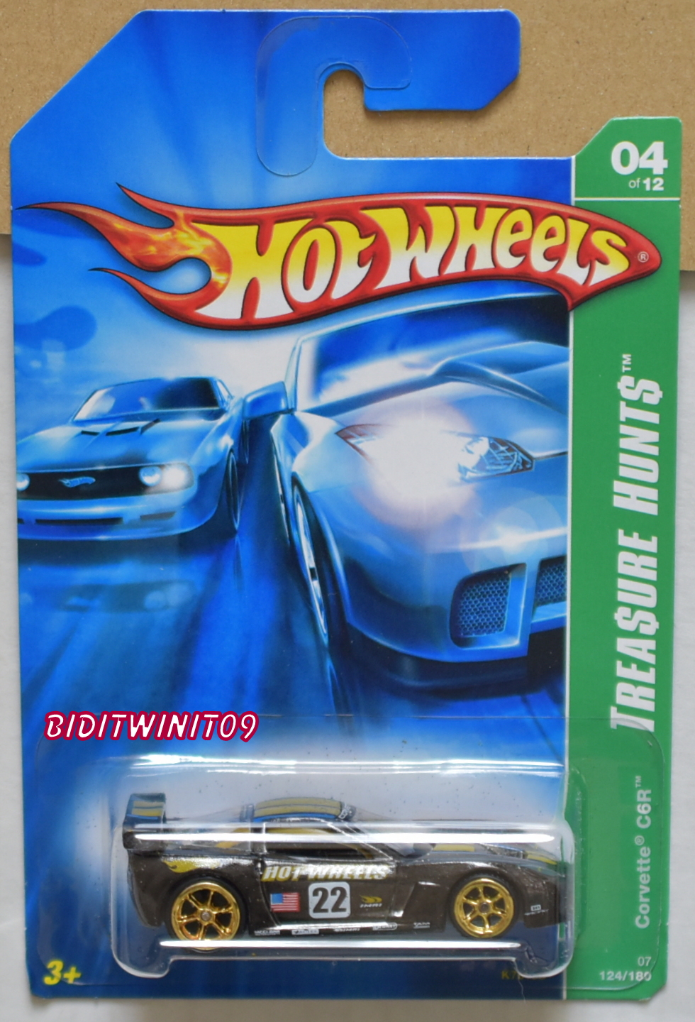 HOT WHEELS 2007 SUPER TREASURE HUNTS CORVETTE C6R E+