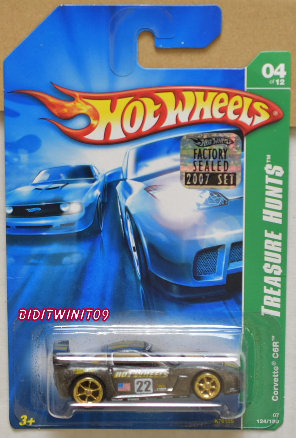 HOT WHEELS 2007 SUPER TREASURE HUNTS CORVETTE C6R FACTORY SEALED E+