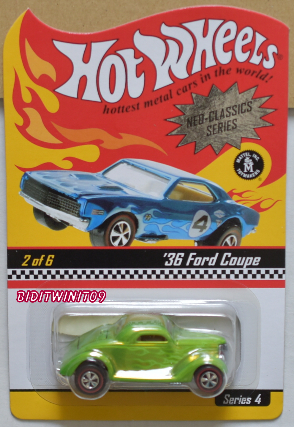 HOT WHEELS 2004 NEO-CLASSICS SERIES #2/6 SERIES 4 - '36 FORD COUPE