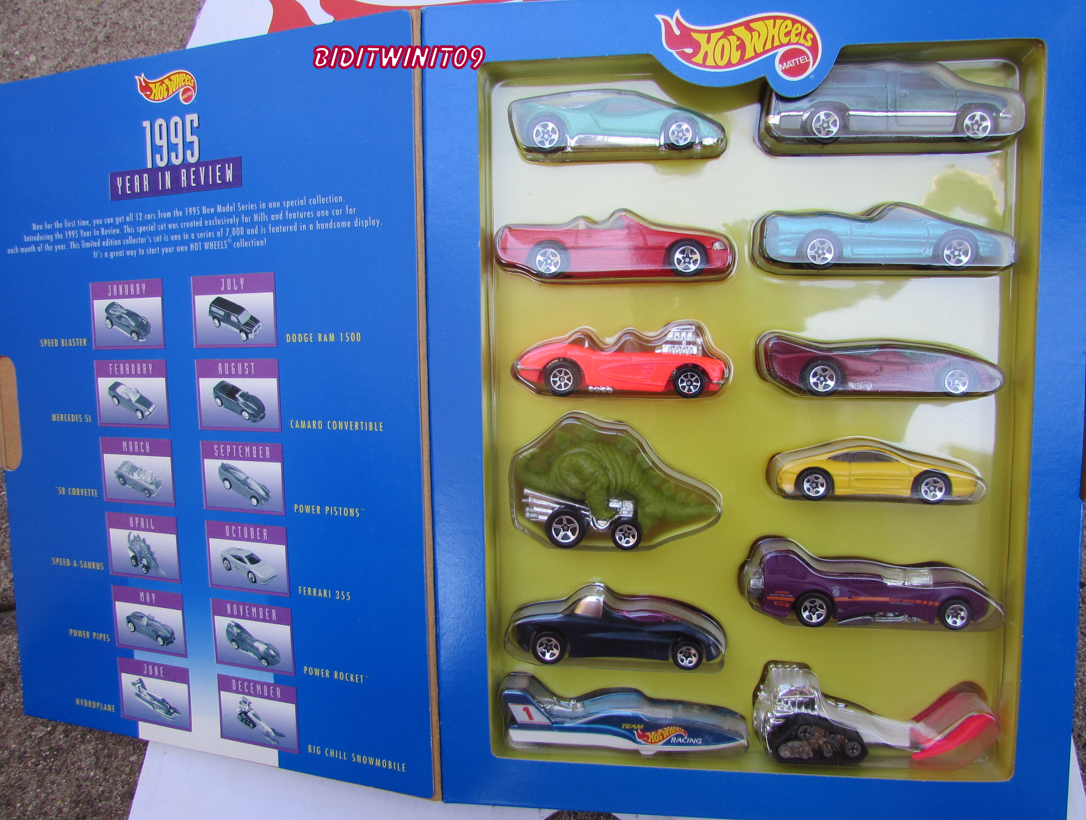 HOT WHEELS 1995 YEAR IN REVIEW 12 CAR PACK E+