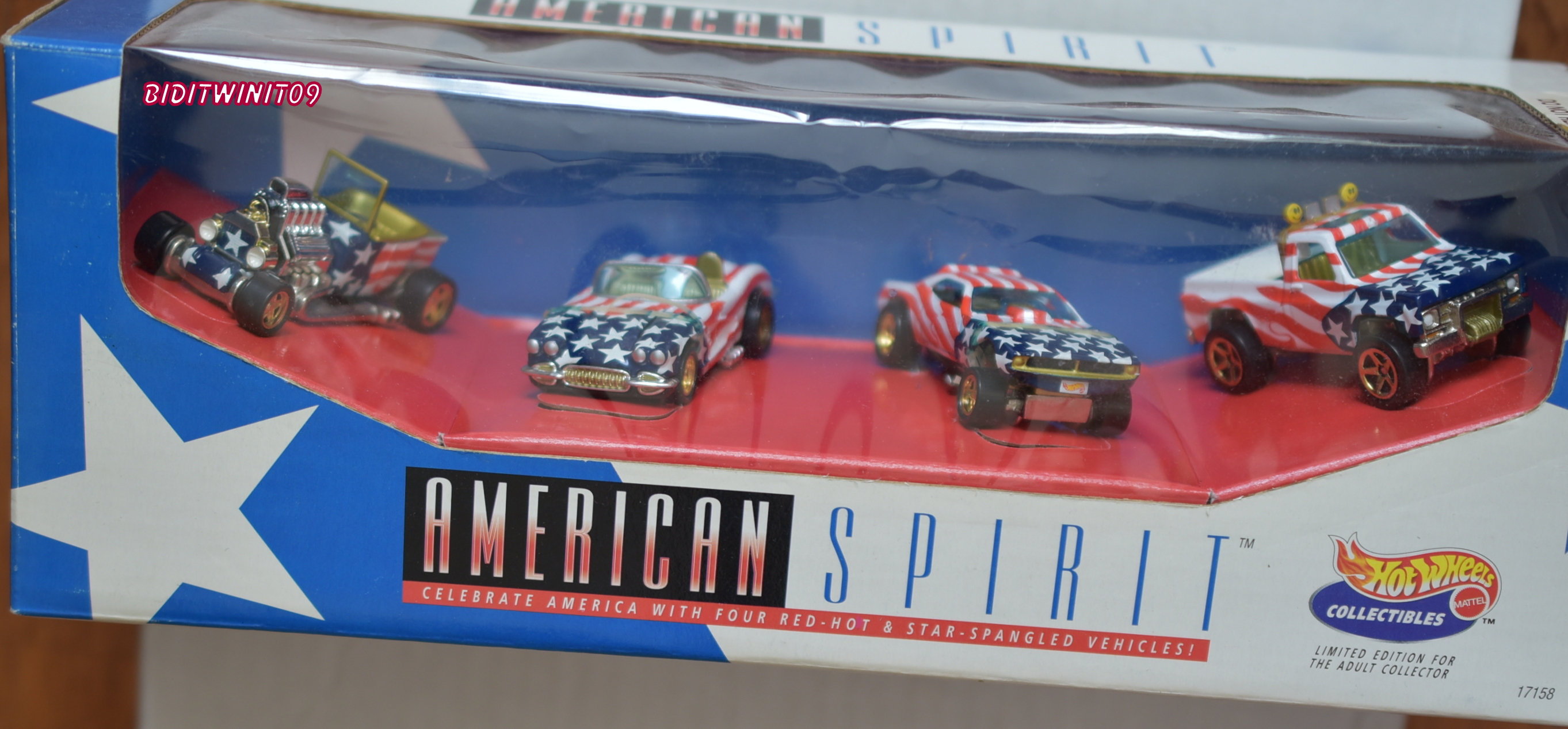 HOT WHEELS COLLECTIBLES AMERICAN SPIRIT 4 CAR SET E+