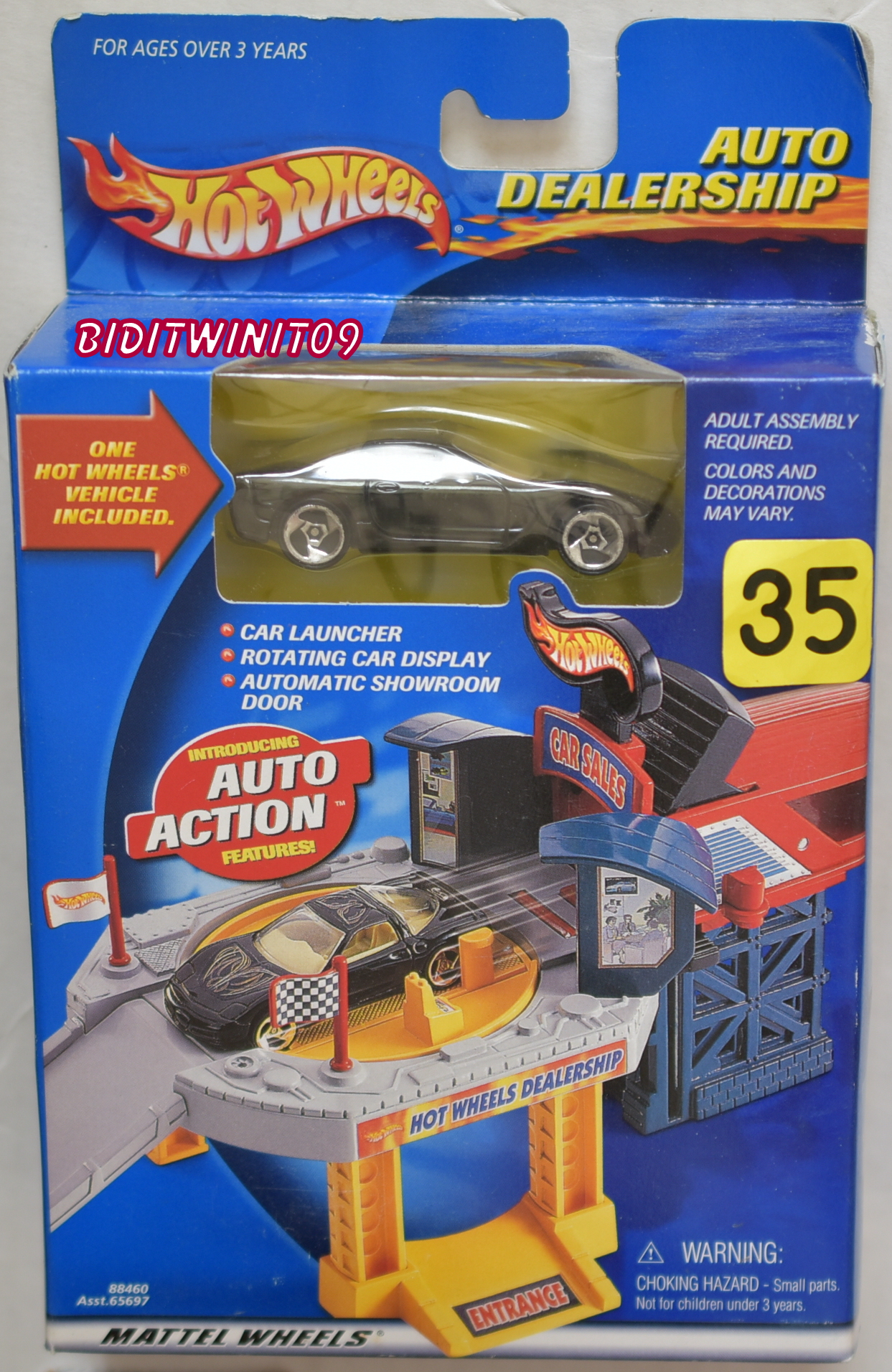 HOT WHEELS AUTO DEALERSHIP CORVETTE