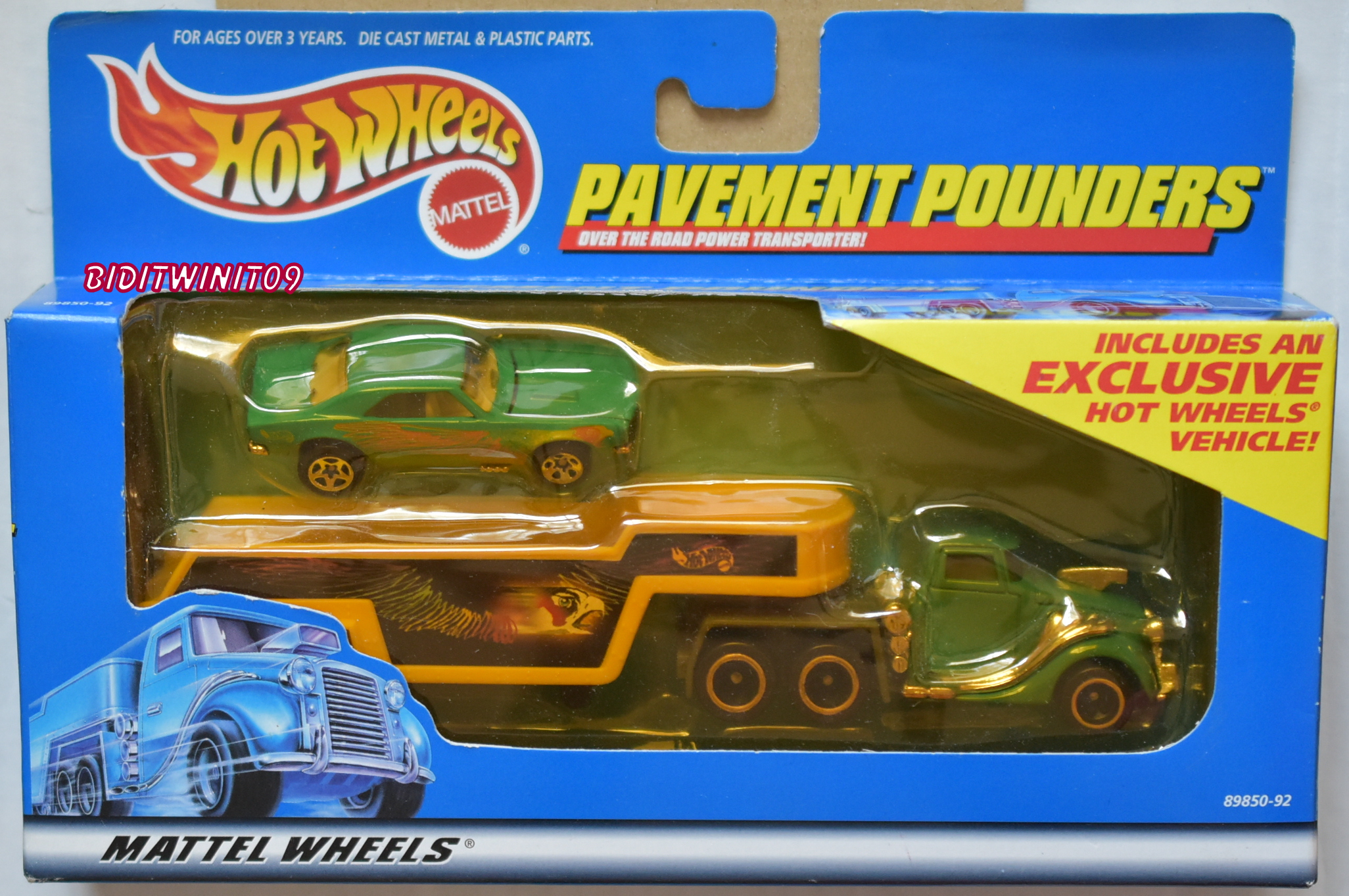 HOT WHEELS PAVEMENT POUNDERS TREASURE HUNT 1967 CAMARO E+