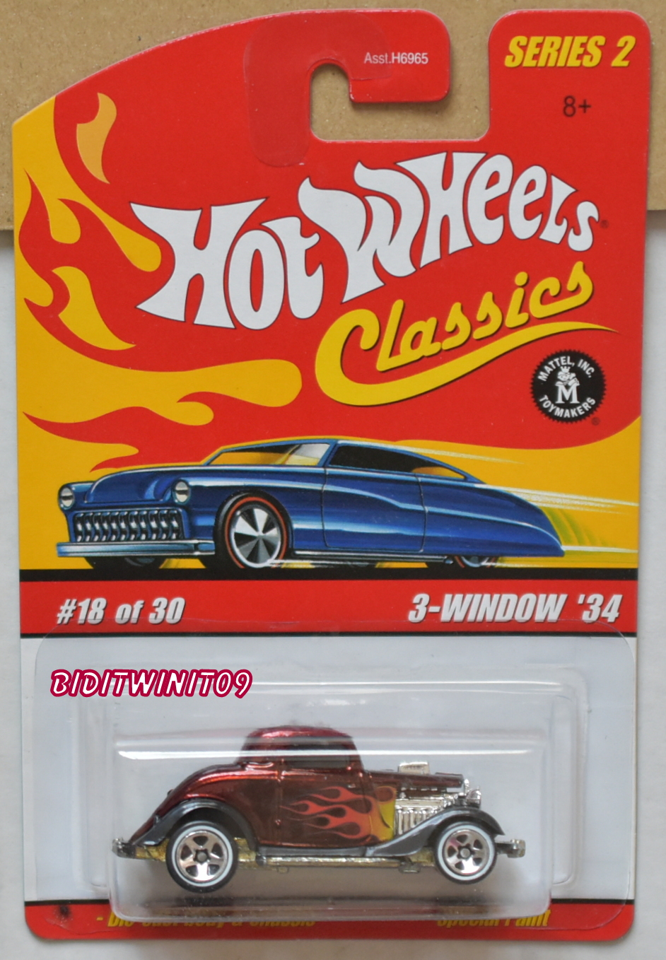 HOT WHEELS CLASSICS SERIES 2 3-WINDOW '34 #18/30 RED