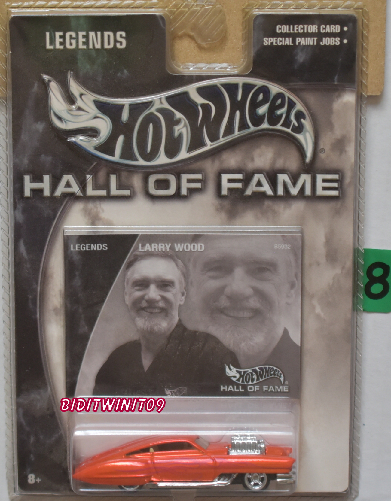 HOT WHEELS HALL OF FAME LEGENDS LARRY WOOD EVIL TWIN E+