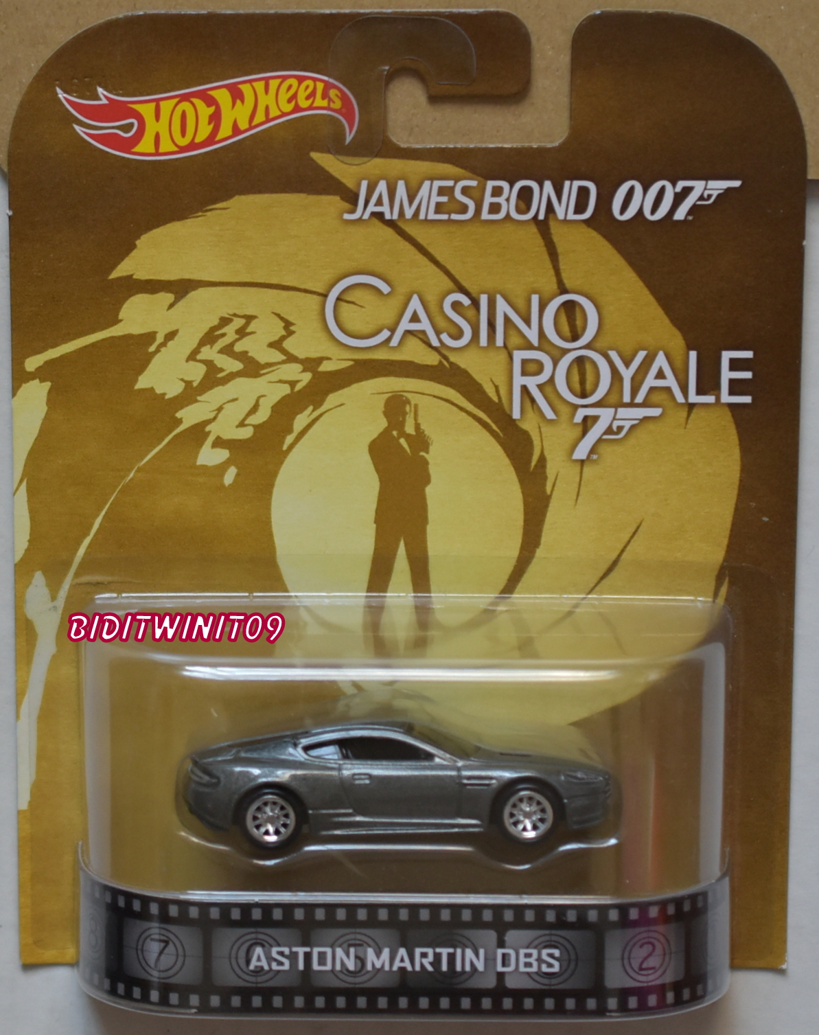 HOT WHEELS RETRO ENTERTAINMENT ASTON MARTIN DBS JAMES BOND 007 CASINO E+