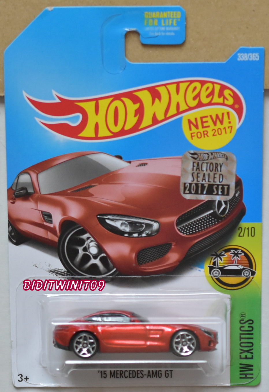 HOT WHEELS 2017 HW EXOTICS '15 MERCEDES-AMG GT RED FACTORY SEALED E+