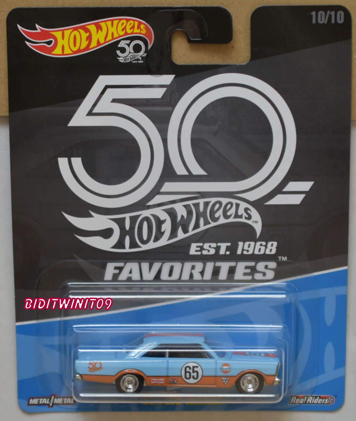 HOT WHEELS 2018 50TH ANNIVERSARY FAVORITES '65 FORD GALAXIE
