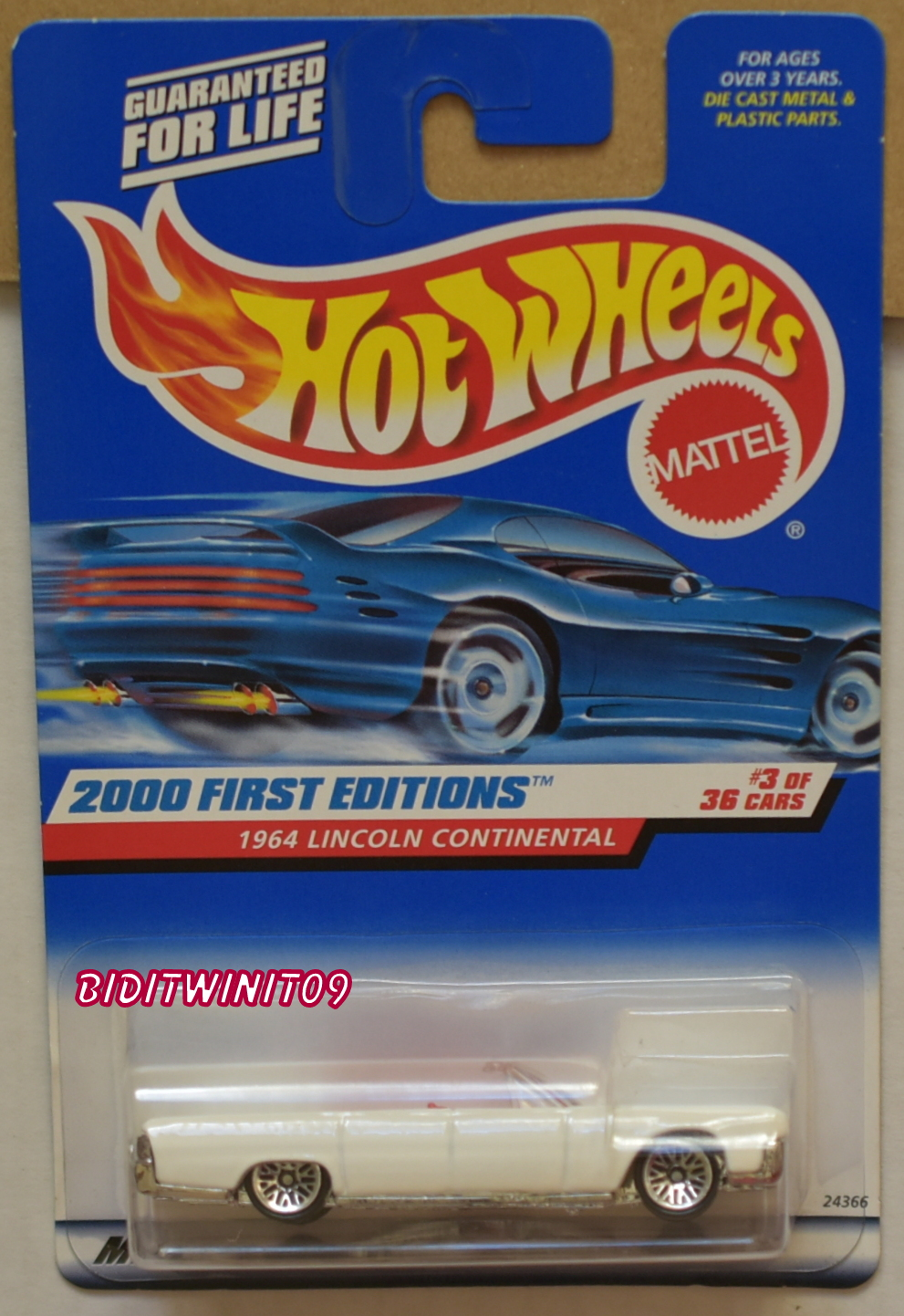 HOT WHEELS 2000 FIRST EDITIONS 1964 LINCOLN CONTINENTAL #3/36