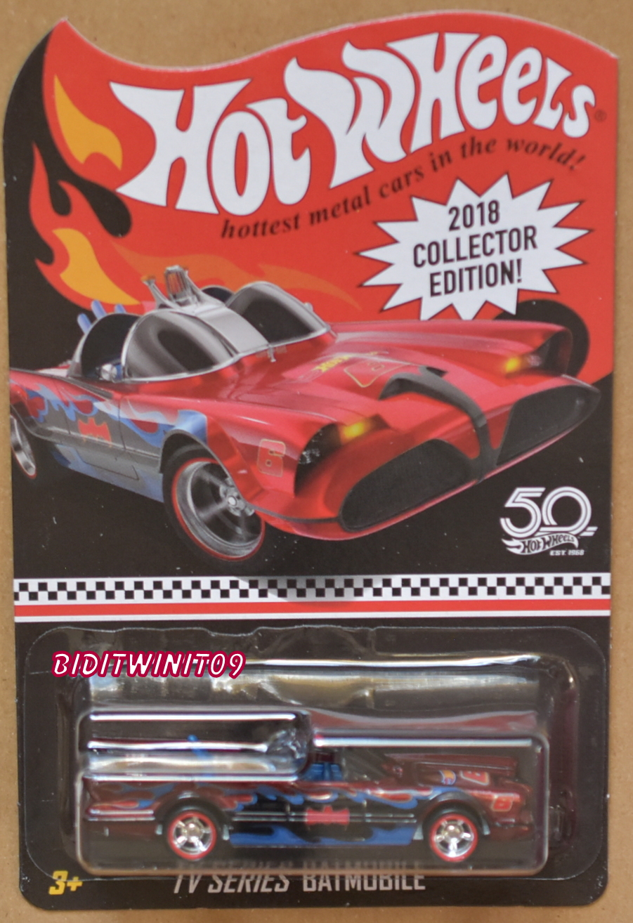 HOT WHEELS 2018 COLLECTOR EDITION TV SERIES BATMOBILE KMART MAILED IN