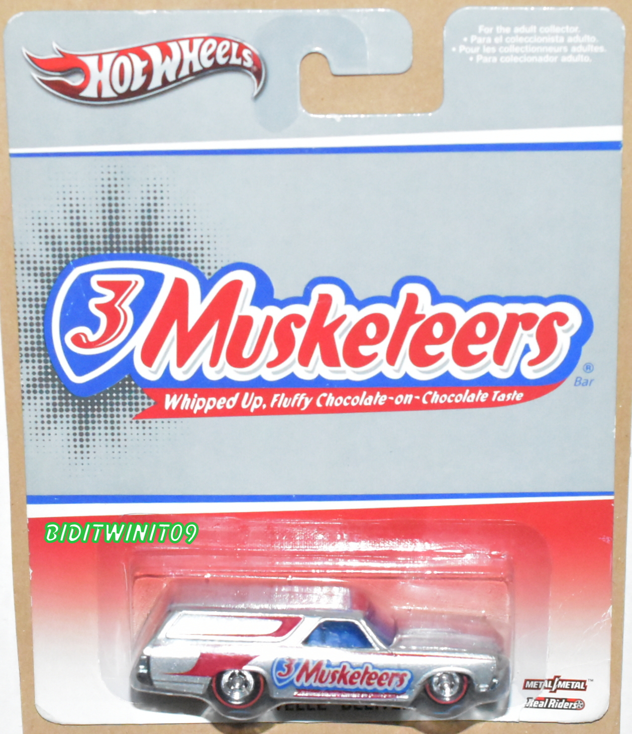 HOT WHEELS POP CULTURE 3 MUSKETEERS '70 CHEVELLE DELIVERY E+