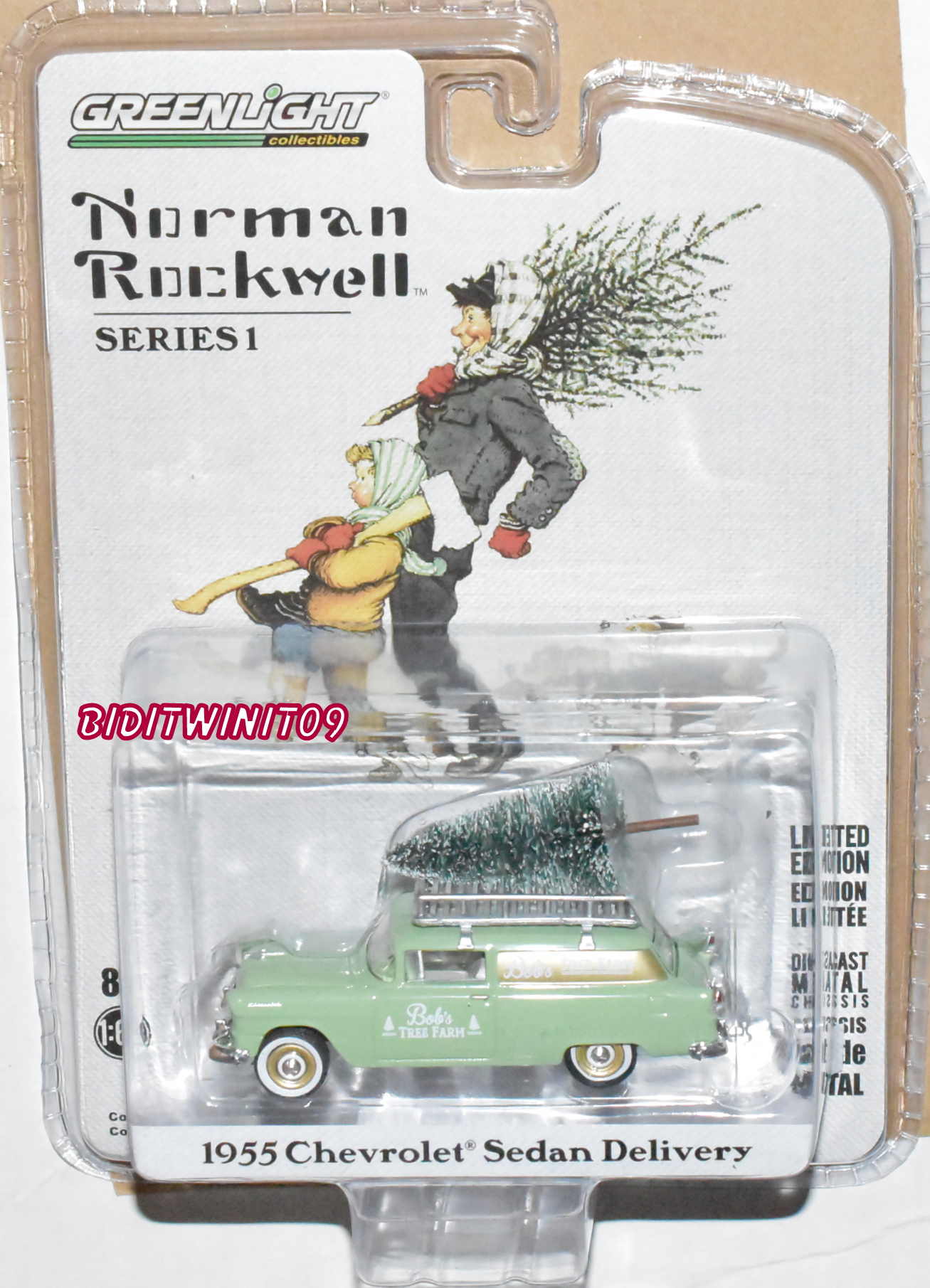GREENLIGHT NORMAN ROCKWELL 1955 CHEVROLET SEDAN DELIVERY SERIES 1 IN-STOCK