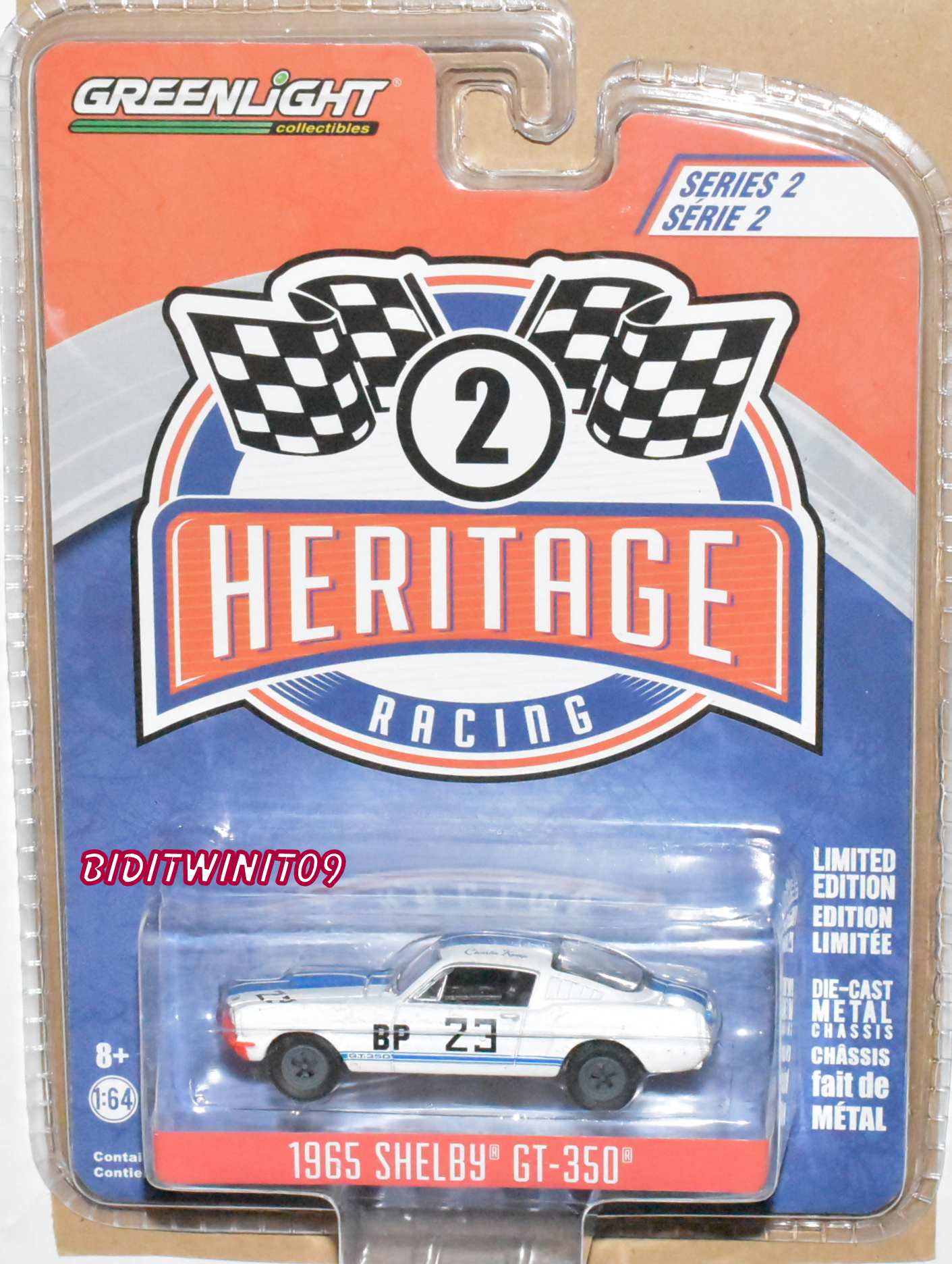 GREENLIGHT 2018 HERITAGE RACING 1965 FORD SHELBY GT-350 SERIES 2