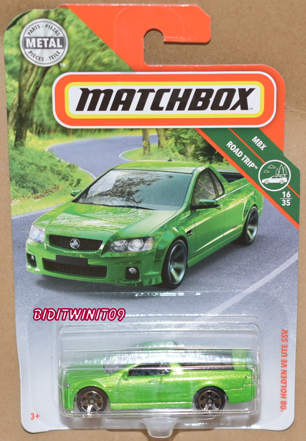 MATCHBOX 2018 MBX ROAD TRIP '08 HOLDEN VE UTE SSV GREEN