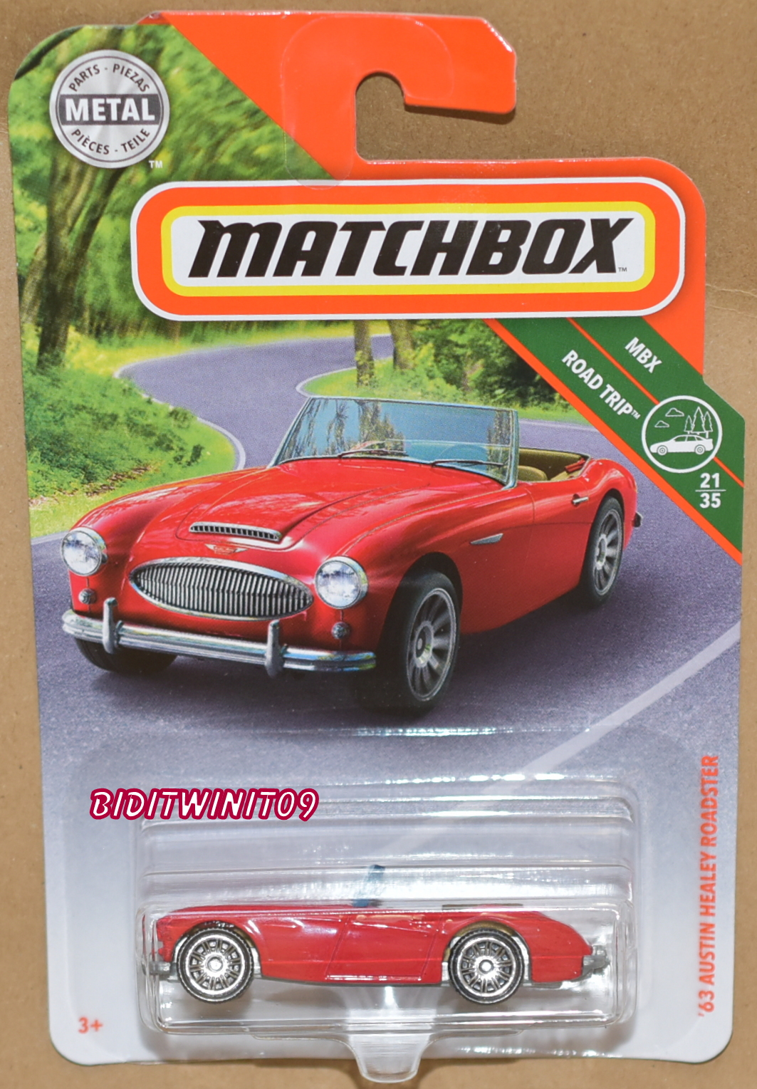 MATCHBOX 2018 MBX ROAD TRIP '63 AUSTIN HEALEY ROADSTER