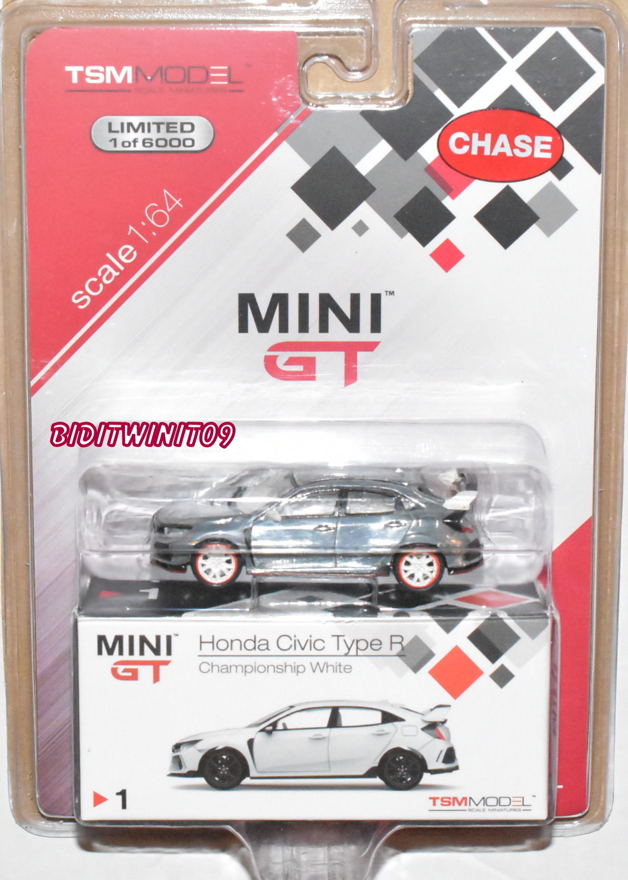 MINI GT TSM MODEL HONDA CIVIC TYPE R ZAMAC CHASE MIJO EXCLUSIVE