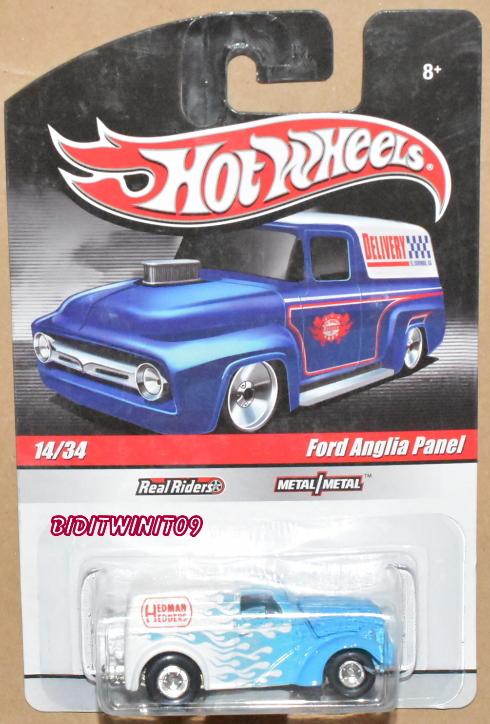 HOT WHEELS DELIVERY FORD ANGLIA PANEL #14/34 REAL RIDERS E+