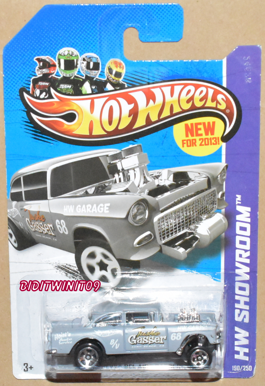 HOT WHEELS 2013 HW SHOWROOM - '55 CHEVY BEL AIR GASSER - HW GARAGE GREY