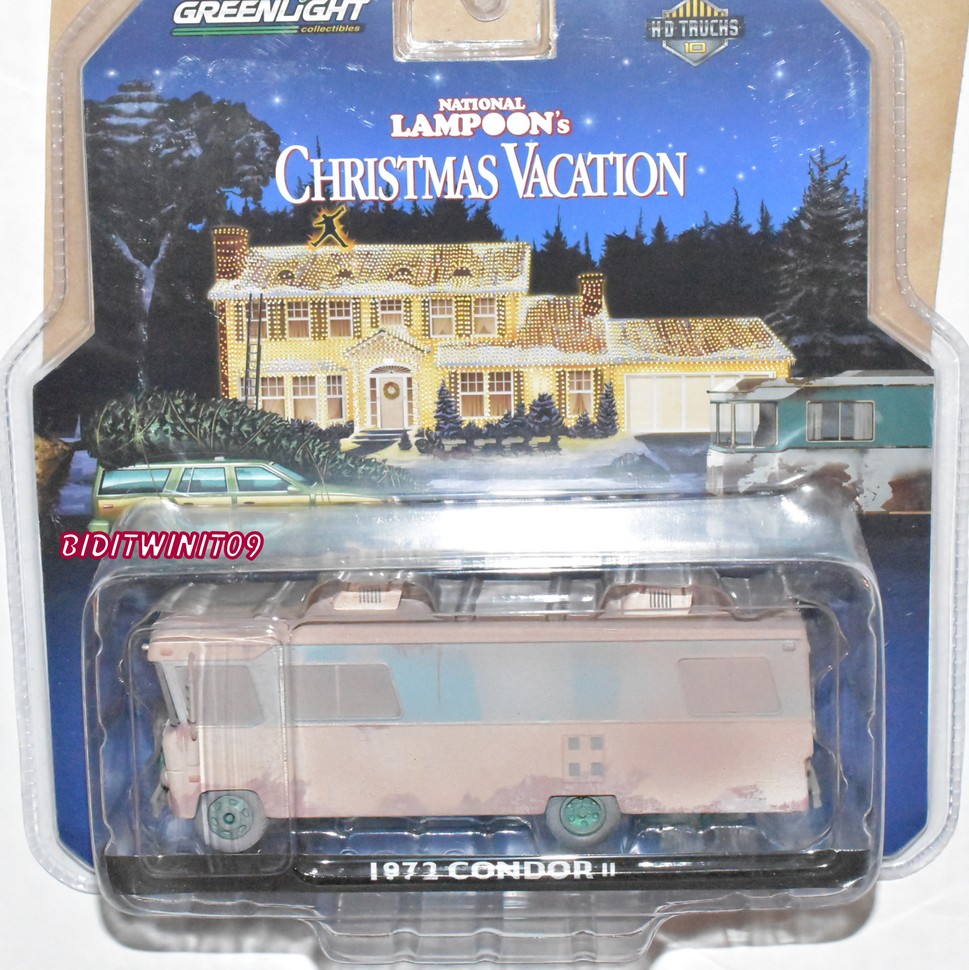 GREENLIGHT NATIONAL LAMPOON'S CHRISTMAS VACATION 1972 CONDOR II GREEN MACHINE E+