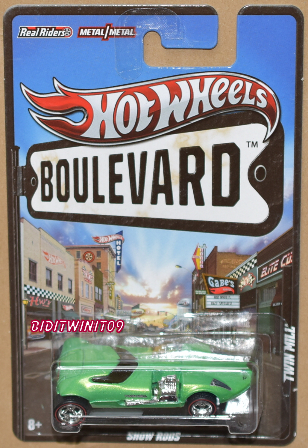 HOT WHEELS BOULEVARD TWIN MILL GREEN E+