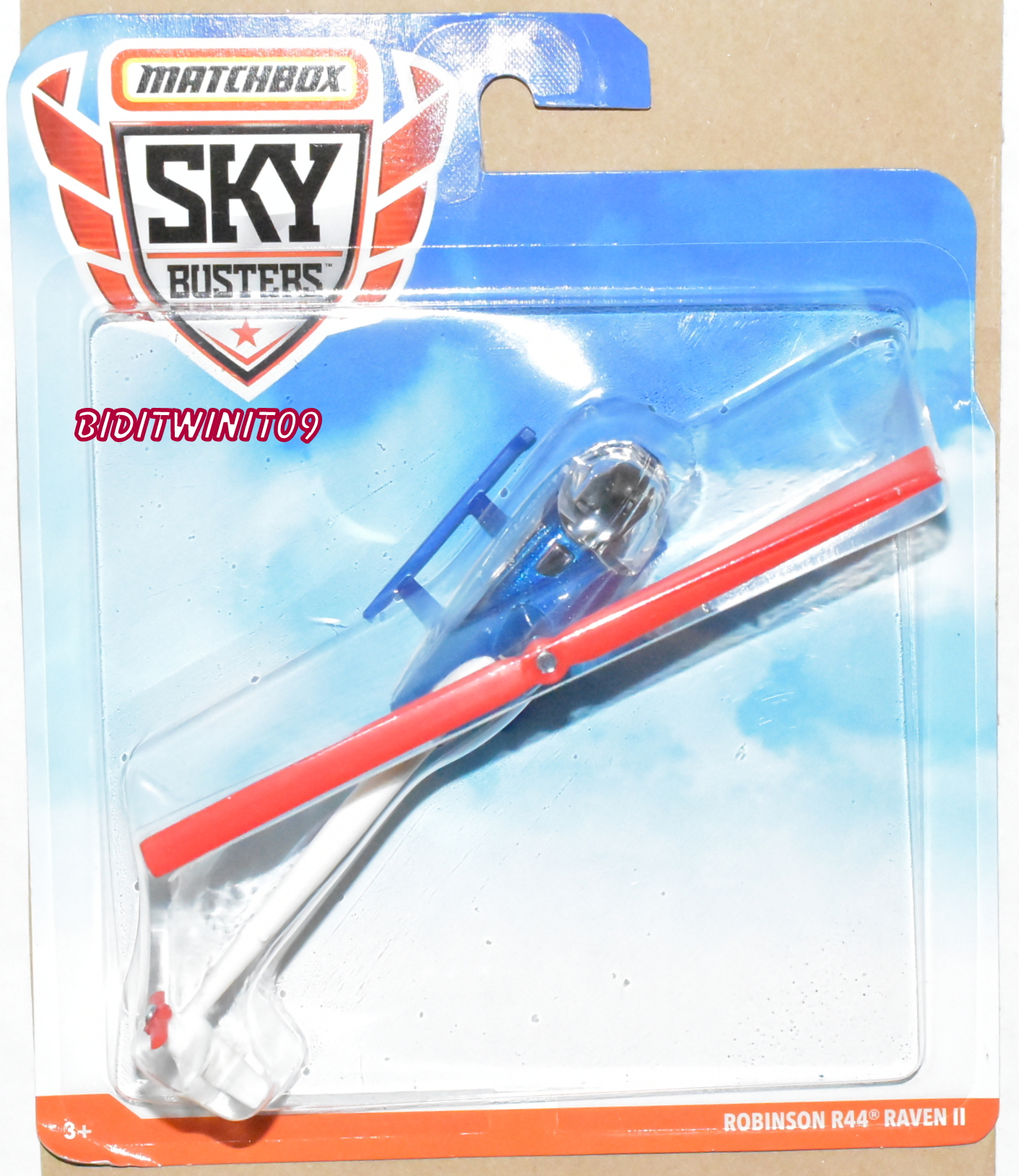 MATCHBOX SKY BUSTERS ROBINSON R44 RAVEN II BLUE